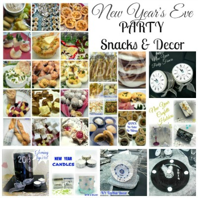 New Years Eve Party Snacks and Decor ~ www.withablast.net