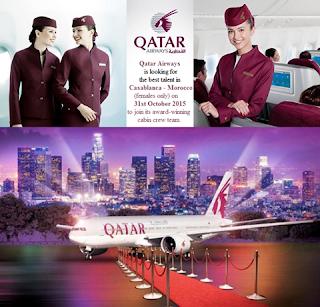 الخطوط الجوية القطرية تبحث عن أفضل المواهب في الدار البيضاء - المغرب - إناث فقط