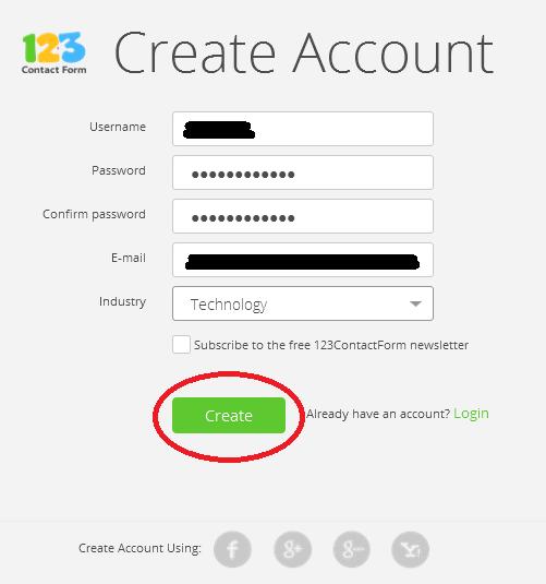 cara membuat layanan contact us blog di 123contactform