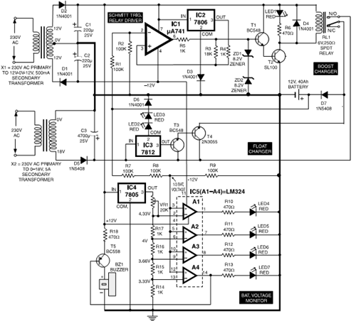 electronic circuits projects and circuit diagrams batteries charger circuit diagram