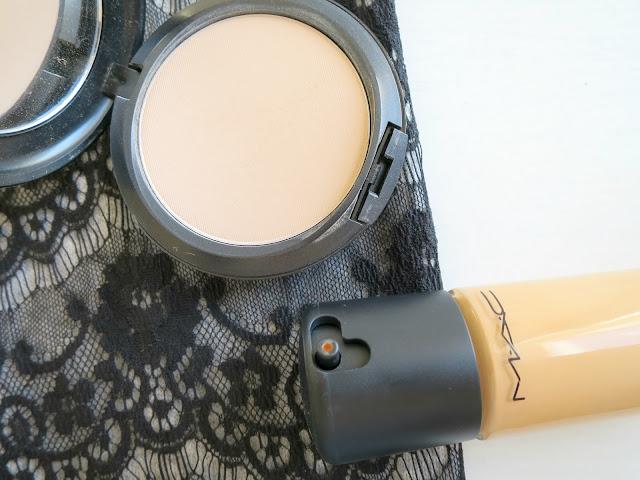 Mac foundation base powder coverage