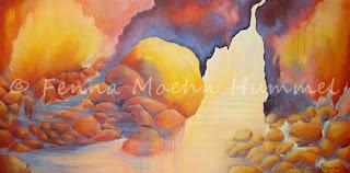 Bijbelse schilderijen | Eeuwig Licht, schilderij bij de bijbel door Fenna Moehn Atelier for Hope Doetinchem