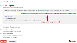 Copy kode html ke bLog
