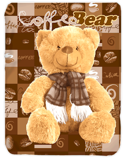 Selimut Kendra Coffee Bear