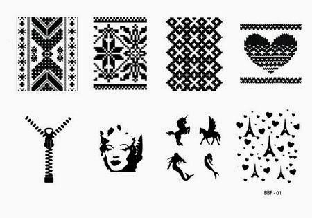 Lacquer Lockdown - stamping, nail art, easy nail art ideas, easy nail art, cute nail art, diy nails, diy nail art, indie plate maker, new stamping plates 2014, new nail art plates 2014, new nail art image plates 2014, new stamping plates, LojaBBF, Loja BBF, intarsia sweater, zippers, madonna, mermaids, paris, valentines day, love, Loja BBF 01, BBF 01, knit sweater pattern, unicorns, unicorn, full nail images