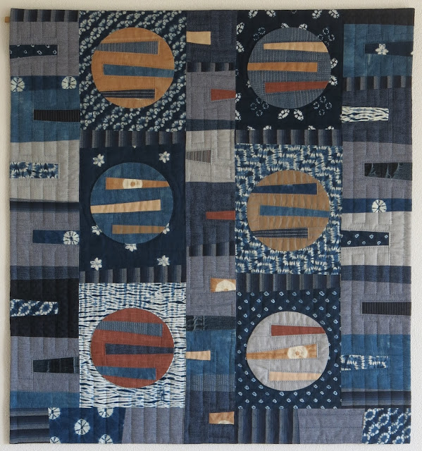 Finished quilt - Indigo - Quiltmania competition