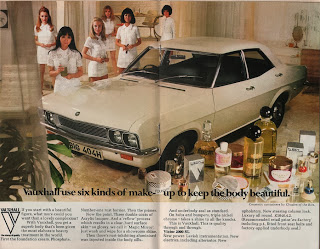 Vintage advertisement for Vauxhall, c.1970