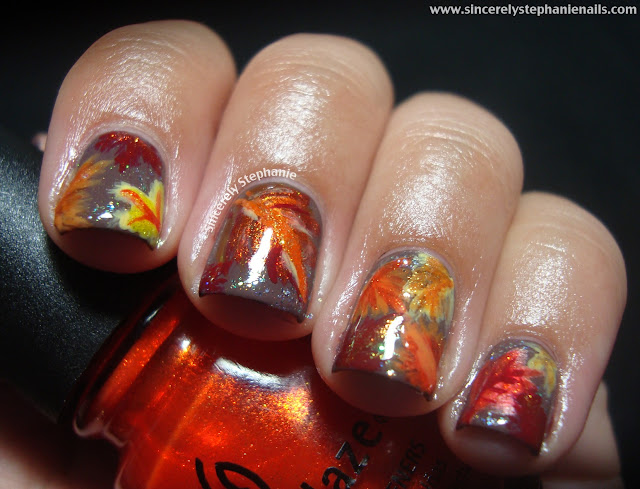 31 day nail art challenge orange