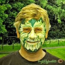 Green Man Face Painting