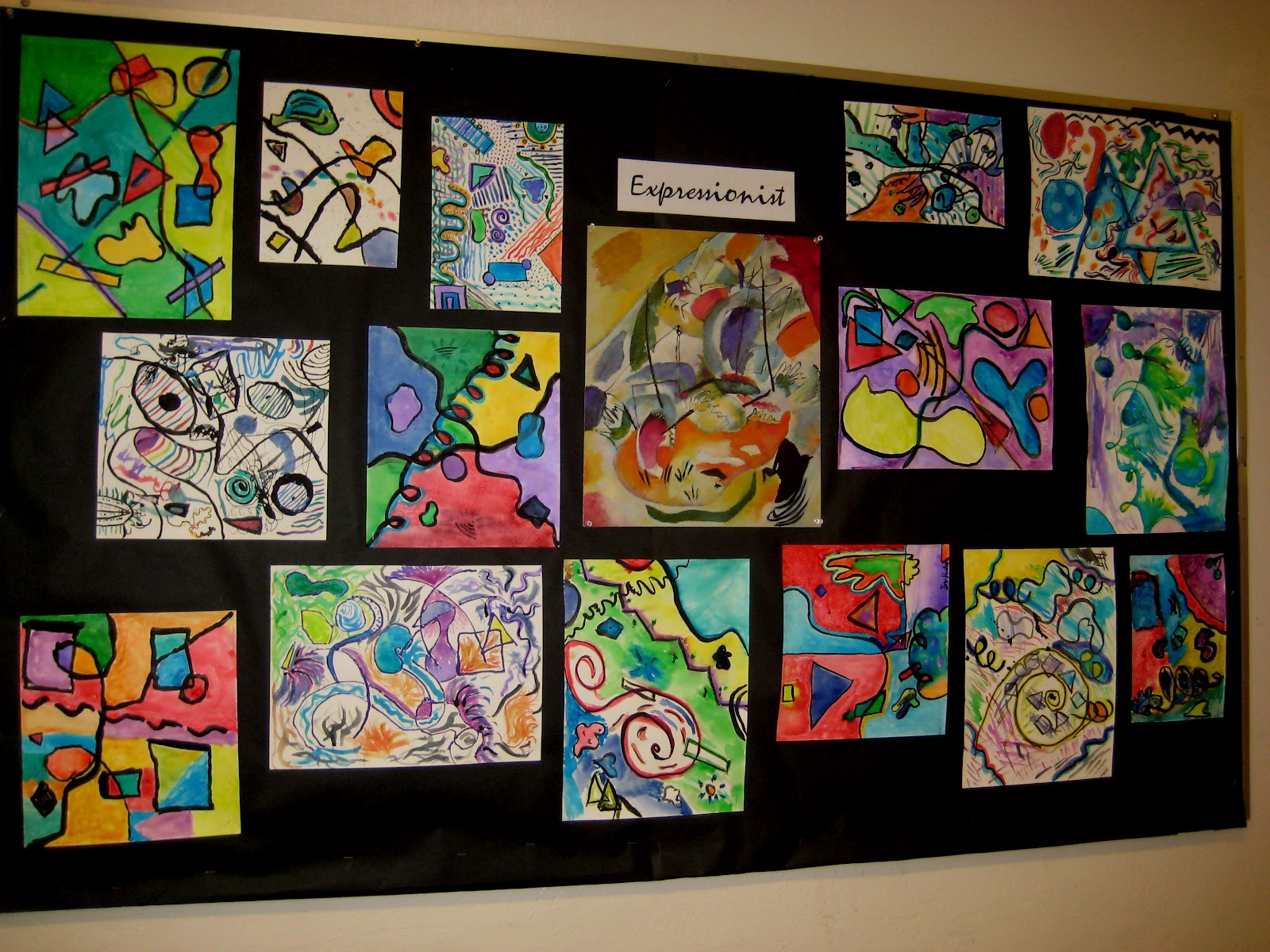 Line Art Lessons For Elementary : Mrs art teacher kandinsky watercolor round two