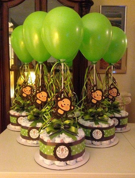 Monkey Baby Shower Centerpieces 570 x 751