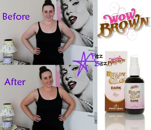 Wow Brown Ready to Glo Self Tanning Liquid in Dark Review