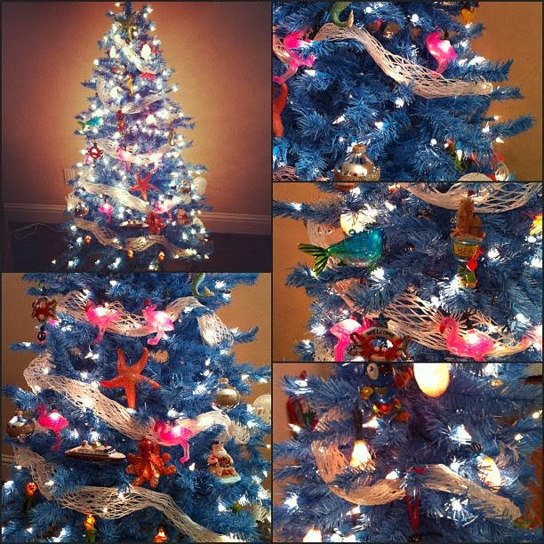 i got this tree from treetopia when i knew i wanted to start a beach theme christmas tree i started looking for the perfect blue tree