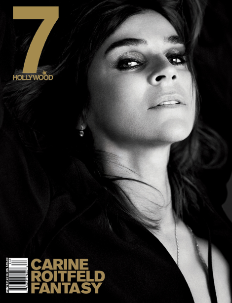 Carine Roitfeld covers 7 Hollywood Magazine's Winter 2014