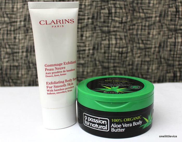 one little vice beauty blog: effective gentle body scrub and hydrating body cream