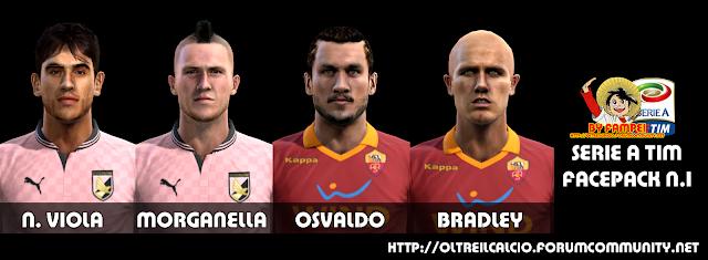 Nicolas Viola, Morganella, Pablo Osvaldo e Bradley Faces - PES 2013