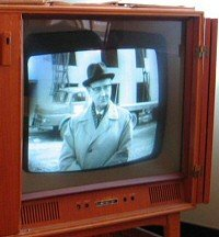 A 1950s TV set