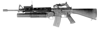 M16 A1 automatic rifle Vietnam war standard issue