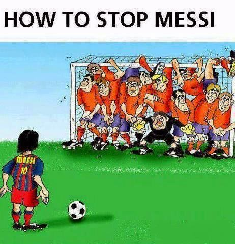 Funny Cartoon: How to stop Messi