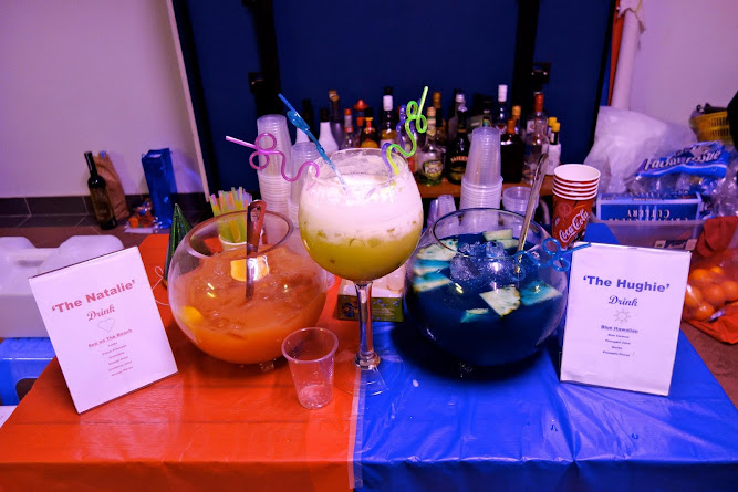 Red and Blue Punch Birthday Party Drinks