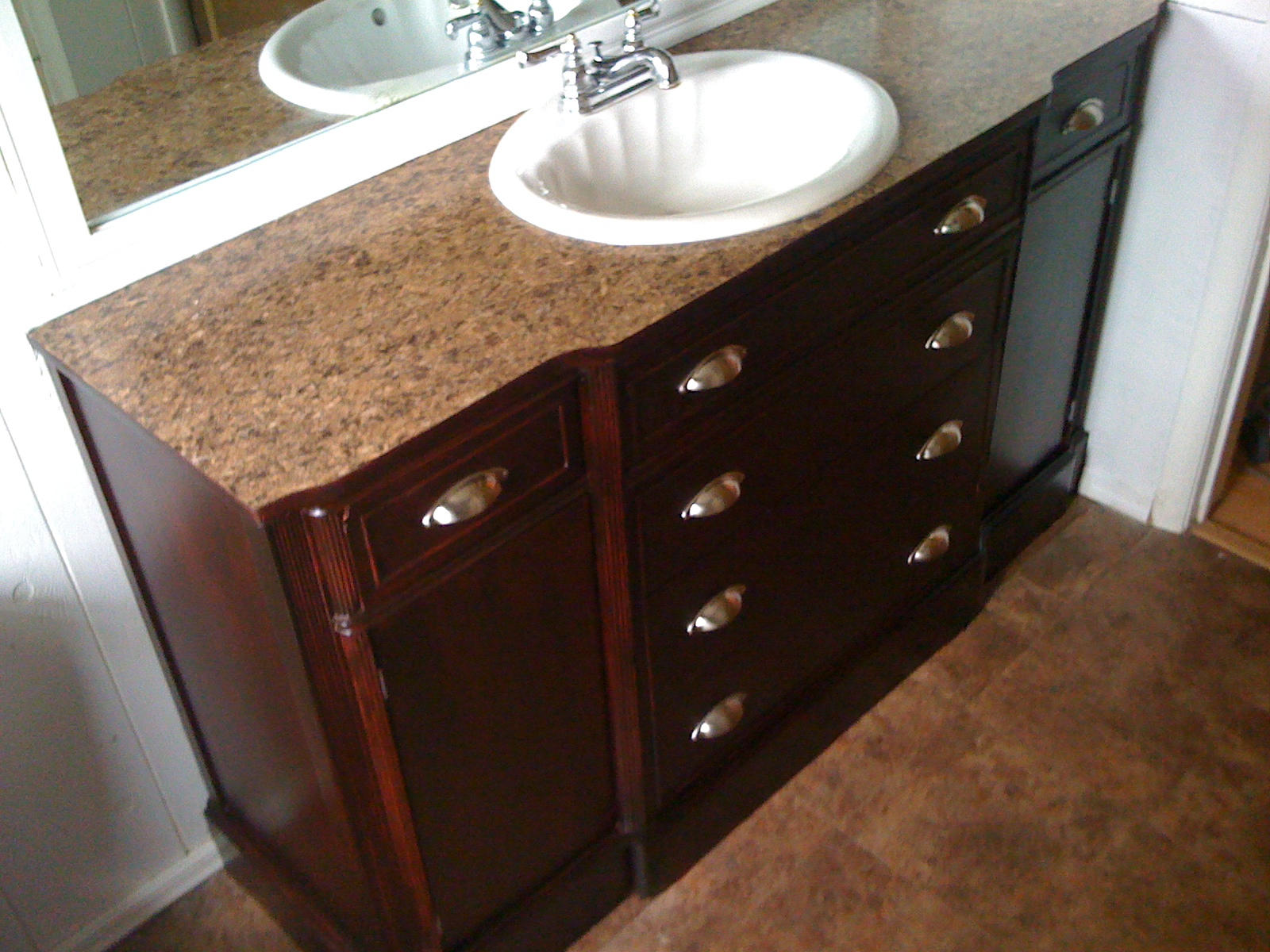 Old Treasures New Again Buffet Into Bathroom Vanity