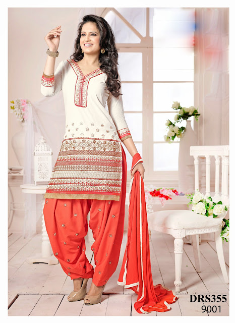 New Arrival Chanderi Cotton Patiala Dress Material