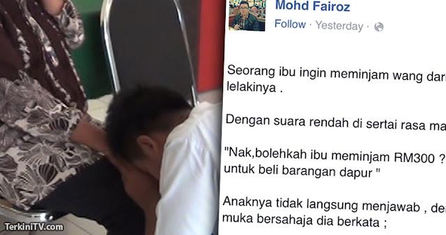 """""""Nak, boleh ibu pinjam RM300?"""""""
