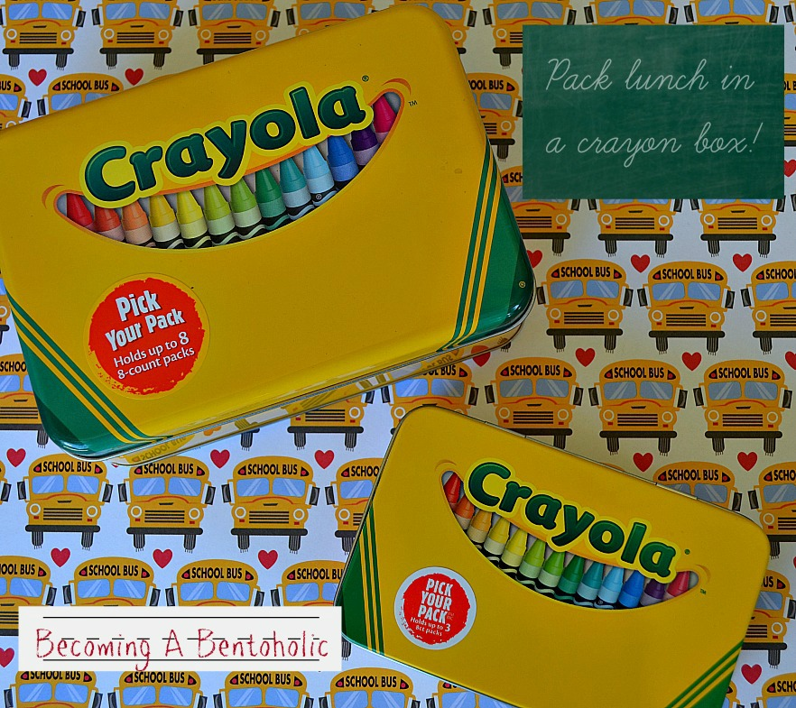 Pack A Lunch In A Crayon Storage Box