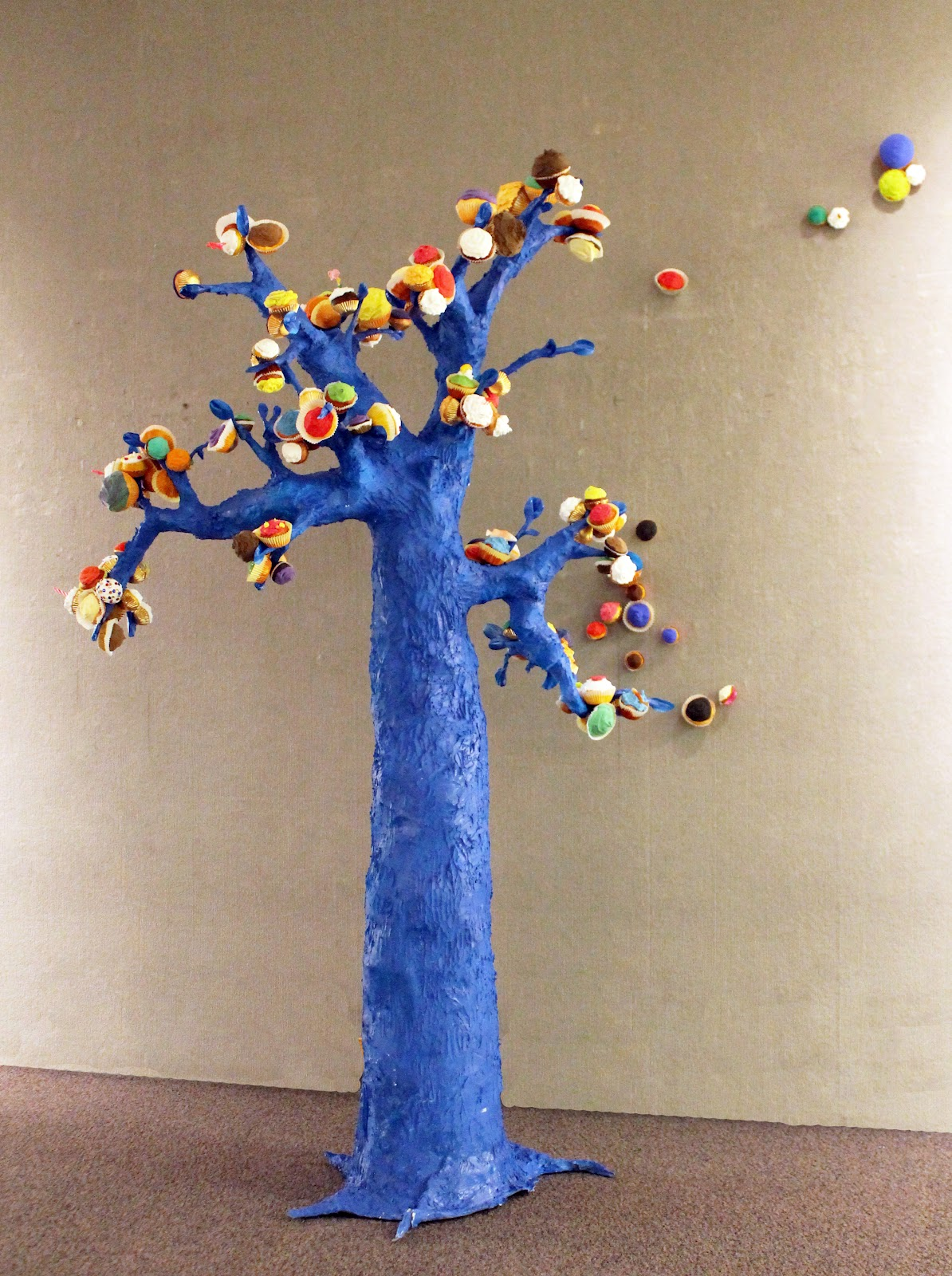 Paper mache tree chicken wire