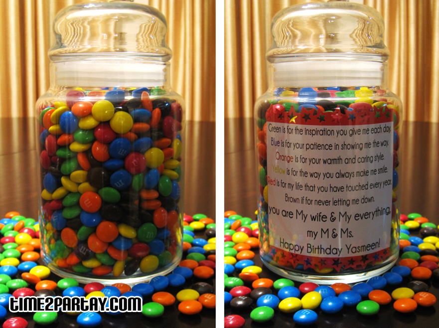Personalized M&M's Jar | Time2Partay.com