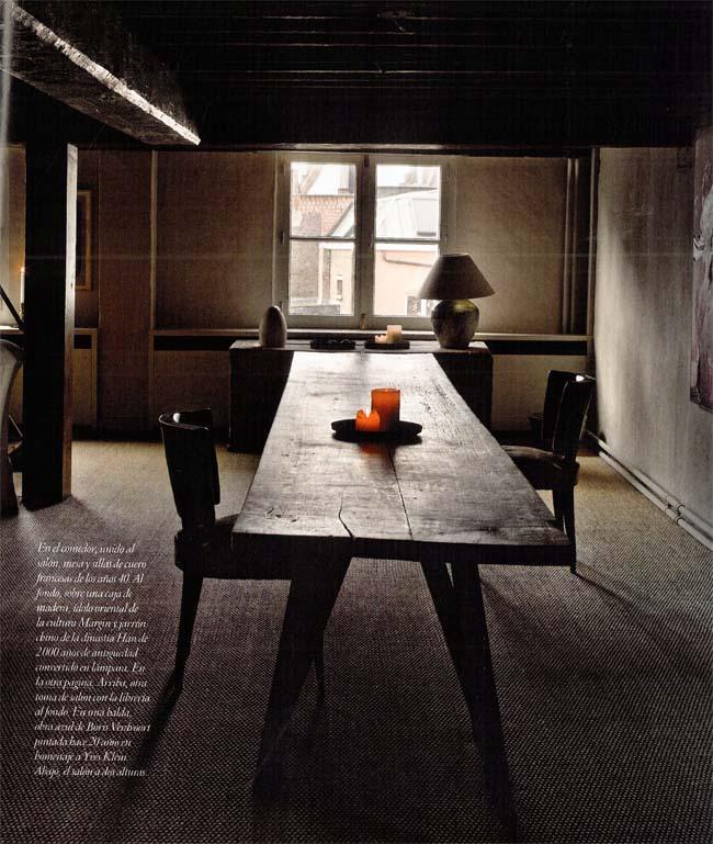 interior rustico minimalista en bélgica-comedor wabi sabi
