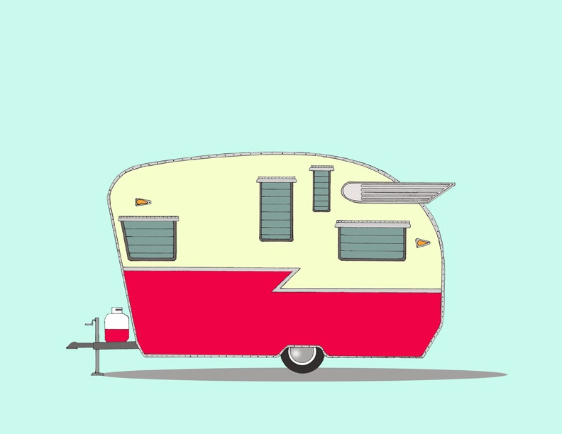 Vintage Camper Drawings New vintage camper series - sneak peek Vintage Camper Clipart