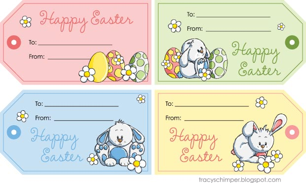 Crafty image for free printable easter tags