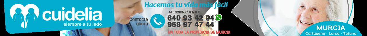 CUIDELIA · 640 93 42 94 · Cuidado de mayores en Murcia