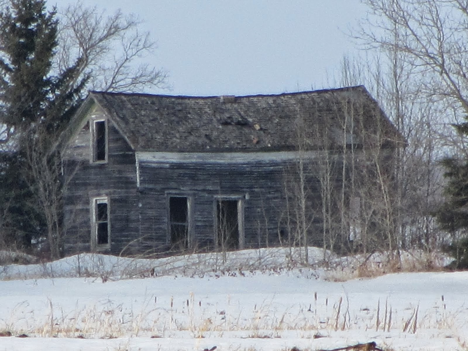 Old abandoned homestead near Thief River Falls, Minnesota