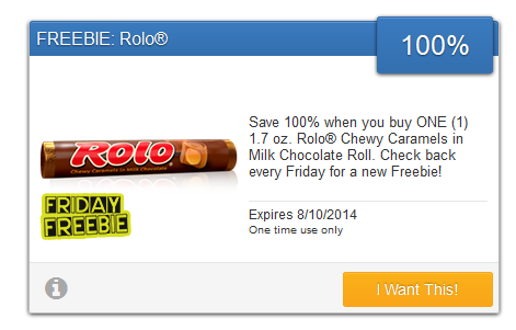 FREEBIE Alert: Rolo Candy Bar!