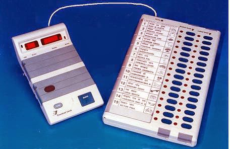 EVM Machine Delhi Polls for AAP, BJP, Congress and more.