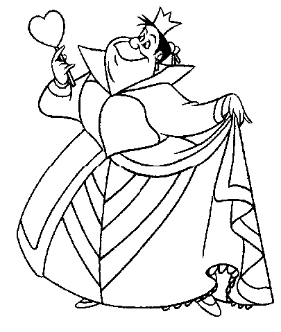 coloring pages alice wonderland - photo#22