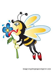 abeja glotona en dibujo