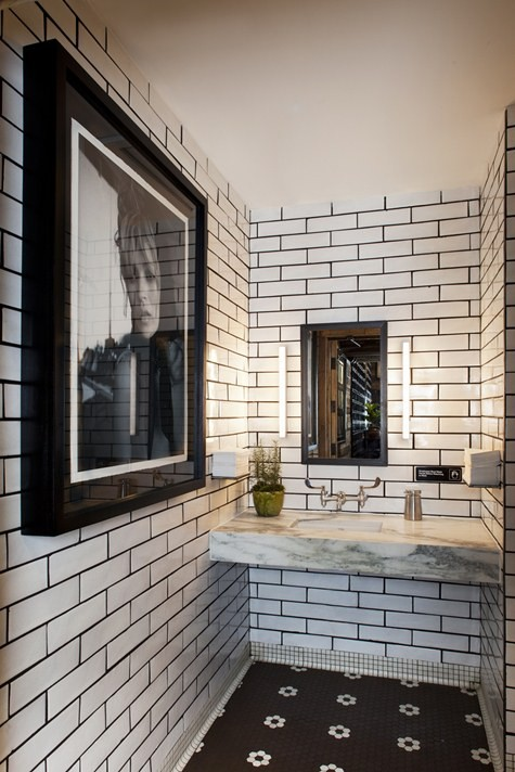 Download Image Black White Subway Tile With Grout PC Android IPhone