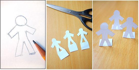 Макет человек из бумаги своими руками