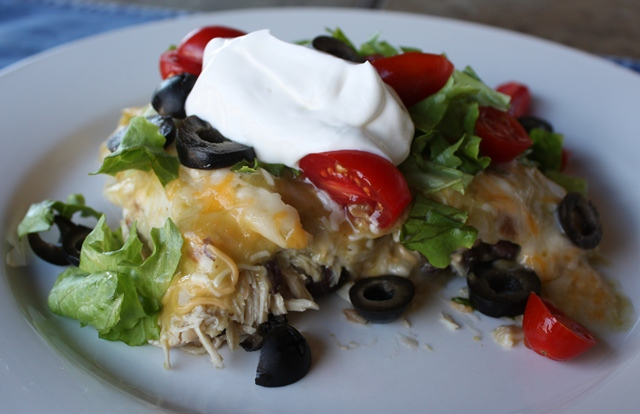 Green Chile Chicken and Black Bean Enchiladas recipe by Barefeet In The Kitchen