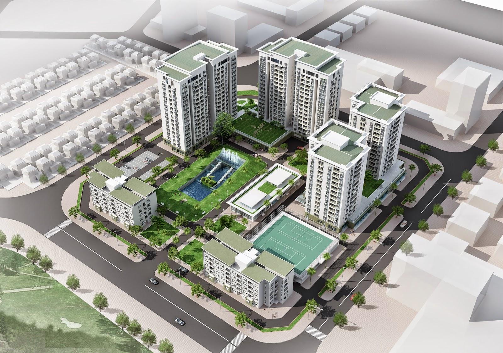 Tổng thể dự án chung cư Green House Việt Hưng