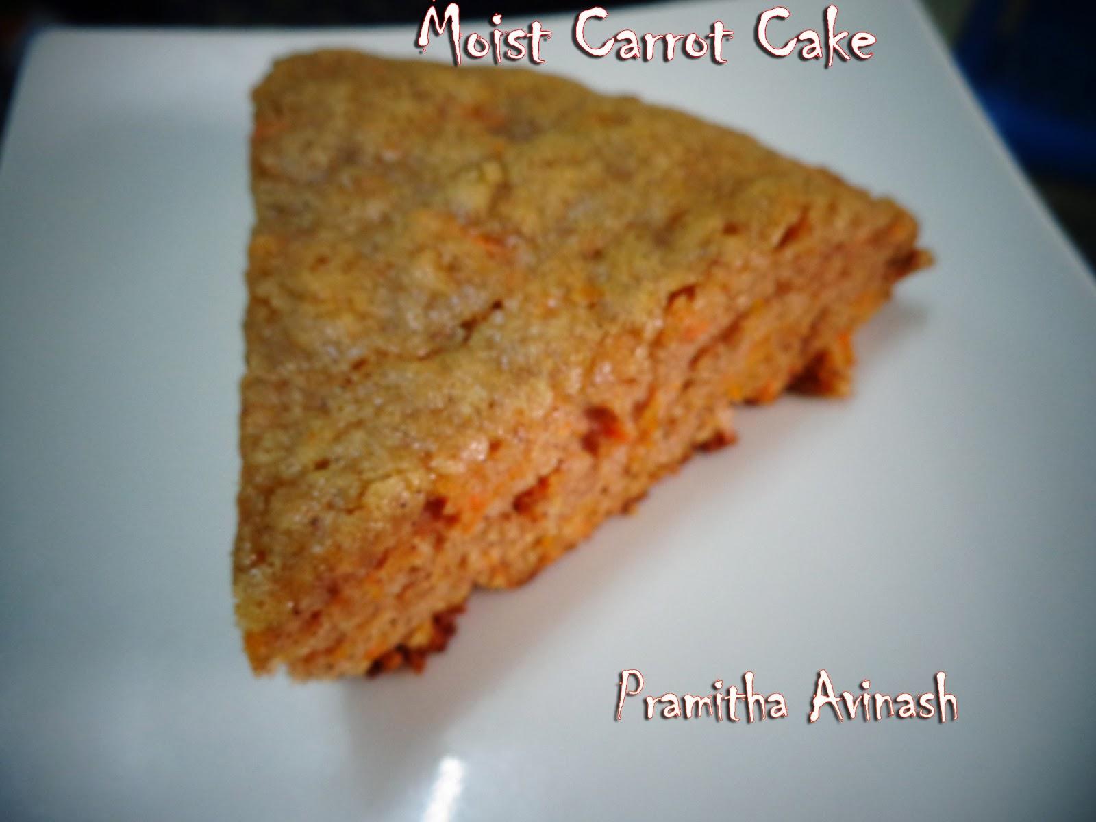 Pramitha Love Cooking!!!!!: Moist Carrot Cake