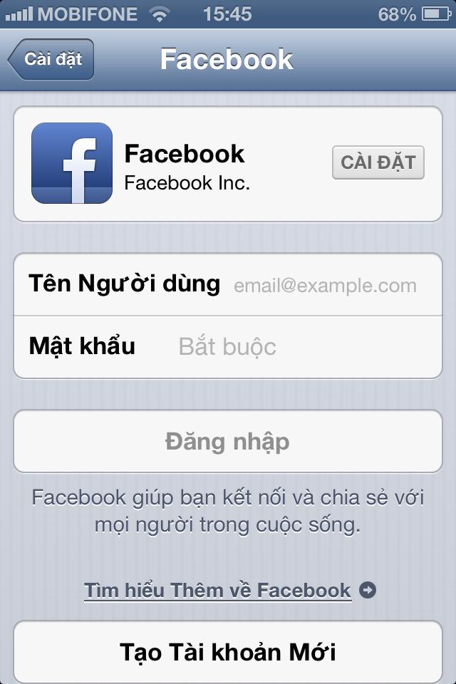 tao facebook bang so dien thoai