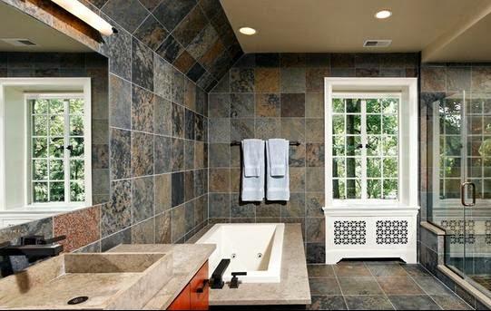 Baño De Tina Concepto:vemos este cuarto de baño de visión amplio de líneas sobre