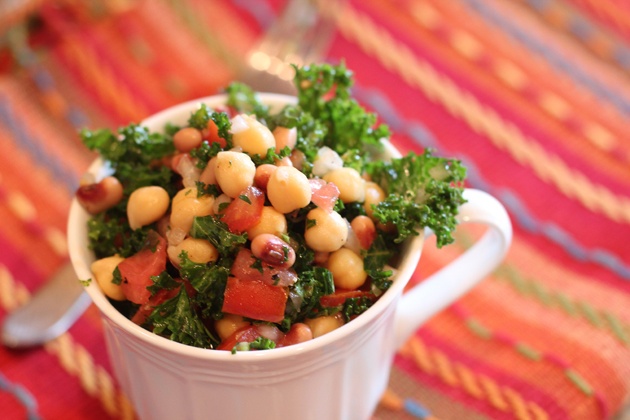 Love My Vegan Life: Kale and Chickpea Salad