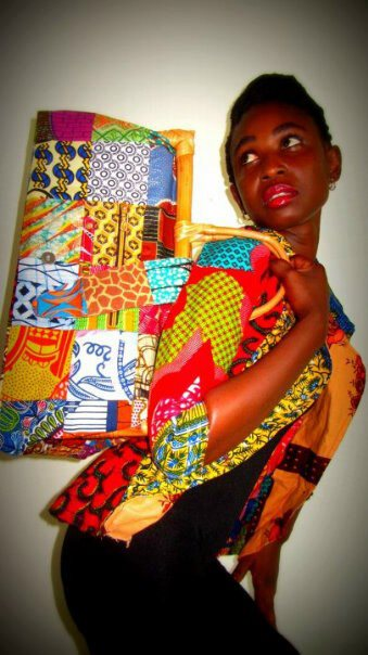 Flat/doll house shoes and bags made with ankara.....