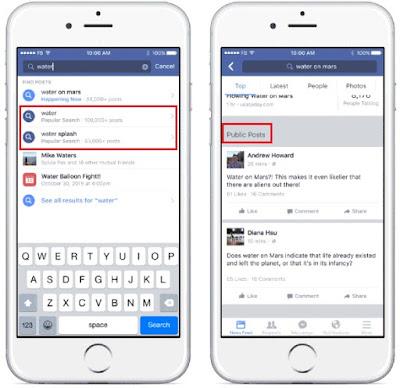 Exemplo do novo resultado de busca do Facebook para negócios