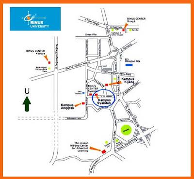 Lokasi Kampus Almamater Binus University di Jakarta
